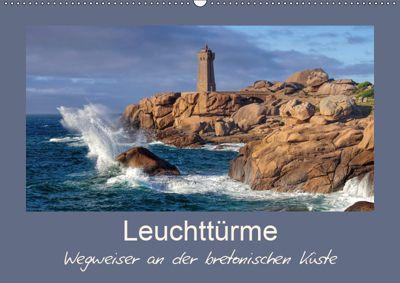 Leuchttürme - Wegweiser an der bretonischen Küste (Wandkalender 2019 DIN A2 quer), LianeM