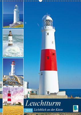 Leuchtturm: Lichtblick an der Küste (Wandkalender 2019 DIN A2 hoch), CALVENDO