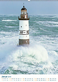 Leuchtturm: Lichtblick an der Küste (Wandkalender 2019 DIN A2 hoch) - Produktdetailbild 1