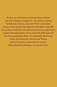 Lexikon der Chinesischen Literatur - Produktdetailbild 1