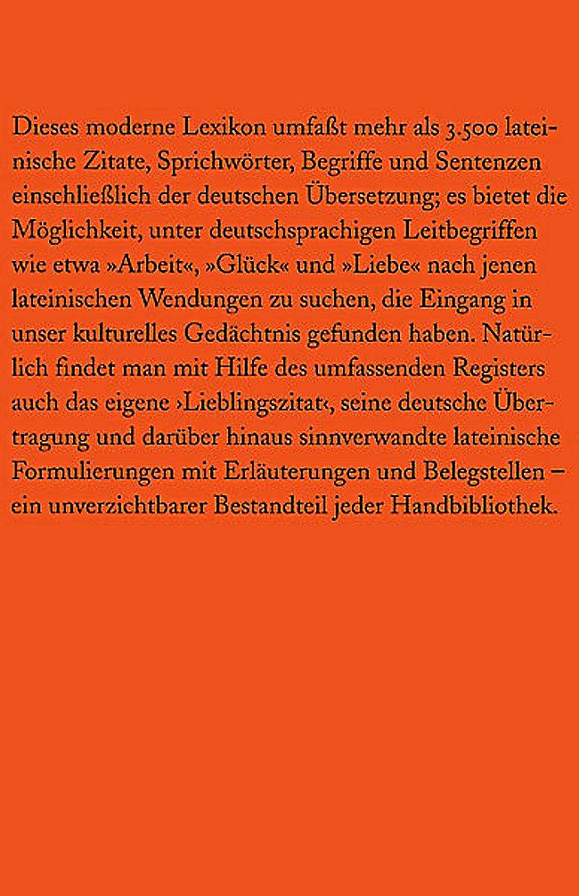 Lexikon Der Lateinischen Zitate Buch Portofrei Bei Weltbildde