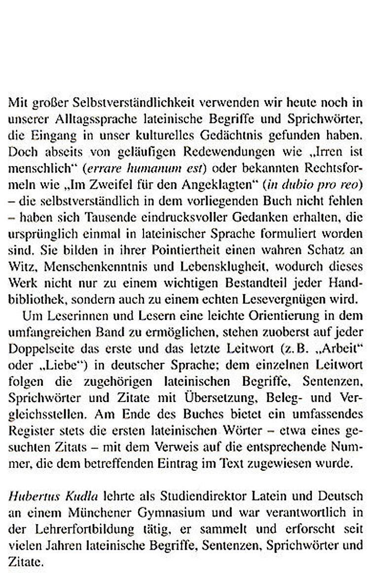 Lexikon Der Lateinischen Zitate Buch Versandkostenfrei Bei
