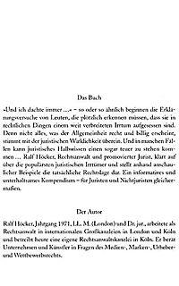 Lexikon der  Rechtsirrtümer - Produktdetailbild 2
