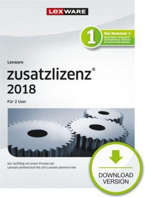 Lexware Zusatzlizenz 2018 (2U-1Y)