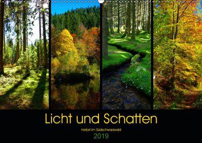 Licht und Schatten - Herbst im Südschwarzwald (Wandkalender 2019 DIN A2 quer), Lost Plastron Pictures