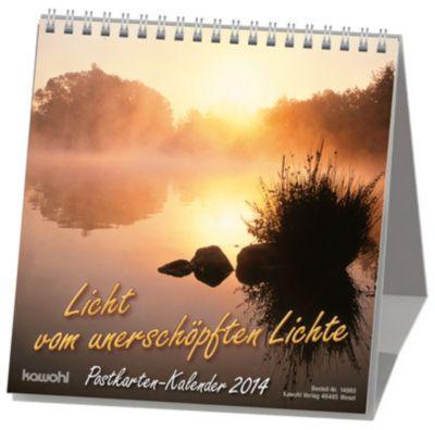Licht vom unerschöpften Lichte, Postkartenkalender 2018