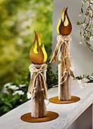 """Lichtdeko """"Flame"""", 2er-Set"""