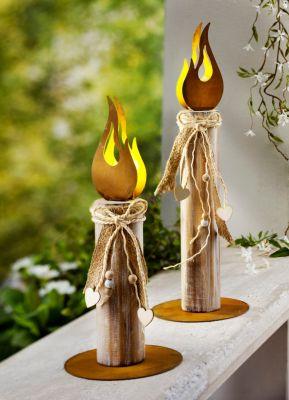 Lichtdeko Flame, 2er-Set