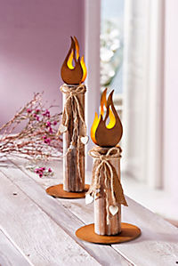 """Lichtdeko """"Flame"""", 2er-Set - Produktdetailbild 1"""