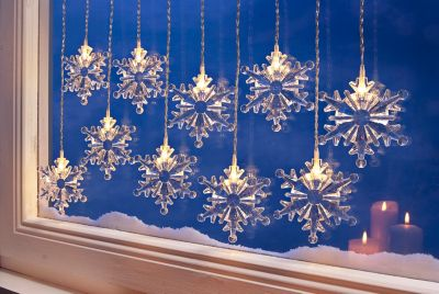 Lichtervorhang Schneeflocke