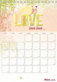Liebe macht glücklich (Tischkalender 2018 DIN A5 hoch) - Produktdetailbild 3