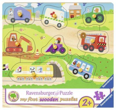 Lieblingsfahrzeuge 10 T.  Holzpuzzles