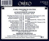 Lieder:Die Sänger D.Vorwelt/Wand'Rers Nachtlied/+ - Produktdetailbild 1
