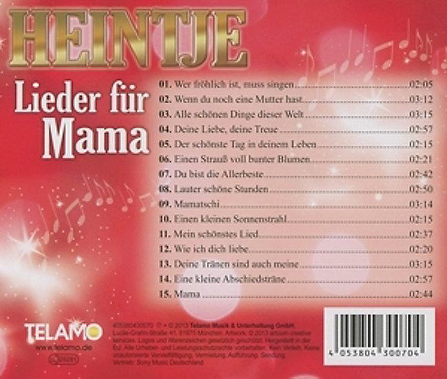 Lieder Für Mama Cd Von Heintje Bei Weltbildde Bestellen
