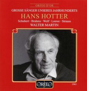 Lieder:Grenzen Der Menschheit/Auf Dem Kirchhofe/+, Hotter, Martin