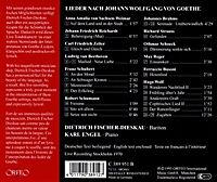 Lieder Nach Texten Von Johann Wolfgang Von Goethe - Produktdetailbild 1