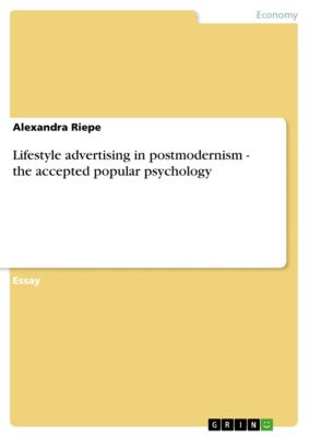 Lifestyle advertising in postmodernism - the accepted popular psychology, Alexandra Riepe