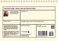 Lions Bluff Lodge - Kenia. Unter den Sternen Afrikas (Tischkalender 2019 DIN A5 quer) - Produktdetailbild 13