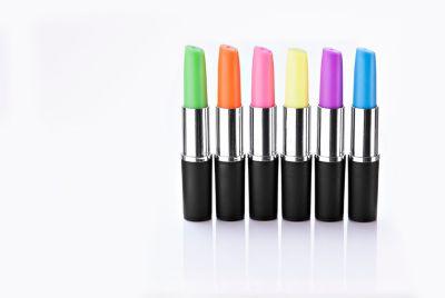 Lippenstift Textmarker, 6er Set