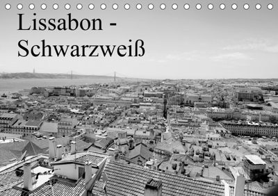 Lissabon - Schwarzweiß (Tischkalender 2019 DIN A5 quer), Bernd Lutz