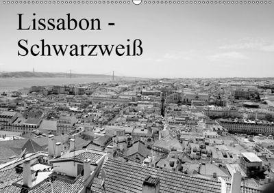 Lissabon - Schwarzweiss (Wandkalender 2019 DIN A2 quer), Bernd Lutz