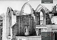 Lissabon - Schwarzweiß (Wandkalender 2019 DIN A3 quer) - Produktdetailbild 4