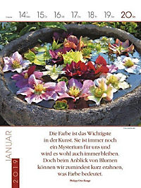 Literaturkalender Gartenlust 2019 - Produktdetailbild 3