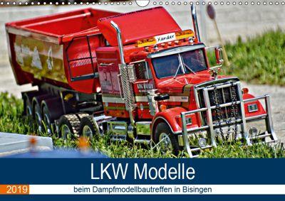 LKW Modelle beim Dampfmodellbautreffen in Bisingen (Wandkalender 2019 DIN A3 quer), Geiger Günther