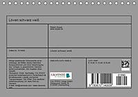 Löwen schwarz weiß (Tischkalender 2019 DIN A5 quer) - Produktdetailbild 13