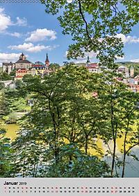 LOKET UND EGER Zwei idyllische Orte in Westböhmen (Wandkalender 2019 DIN A2 hoch) - Produktdetailbild 1