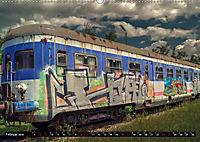 Lokomotiven und Wagen - Verfallen und vergessen auf dem Abstellgleis (Wandkalender 2019 DIN A2 quer) - Produktdetailbild 2