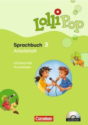 LolliPop Sprachbuch: 3. Schuljahr, Arbeitsheft m. CD-ROM