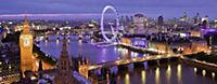 London bei Nacht. Panorama Puzzle 1000 Teile - Produktdetailbild 1