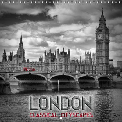 LONDON Classical Cityscapes (Wall Calendar 2019 300 × 300 mm Square), Melanie Viola