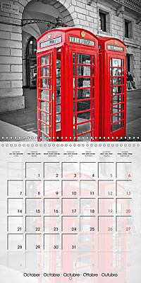 LONDON Classical Cityscapes (Wall Calendar 2019 300 × 300 mm Square) - Produktdetailbild 10