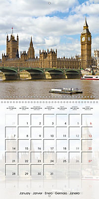 LONDON Famous Cityscapes (Wall Calendar 2019 300 × 300 mm Square) - Produktdetailbild 1