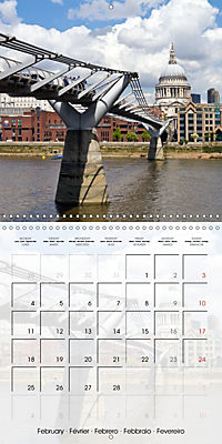 LONDON Famous Cityscapes (Wall Calendar 2019 300 × 300 mm Square) - Produktdetailbild 2