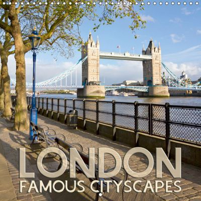 LONDON Famous Cityscapes (Wall Calendar 2019 300 × 300 mm Square), Melanie Viola