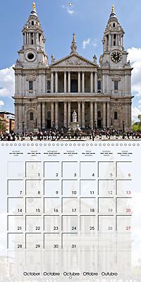 LONDON Famous Cityscapes (Wall Calendar 2019 300 × 300 mm Square) - Produktdetailbild 10