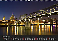 London - Night Shots (Wall Calendar 2019 DIN A3 Landscape) - Produktdetailbild 1