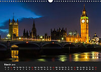 London - Night Shots (Wall Calendar 2019 DIN A3 Landscape) - Produktdetailbild 3
