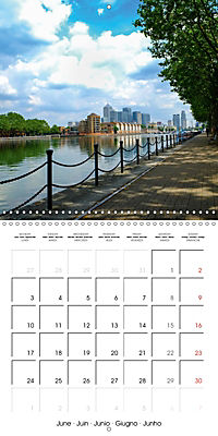 London - Rivers, Lakes and Canals (Wall Calendar 2019 300 × 300 mm Square) - Produktdetailbild 6