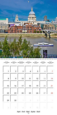 London - Rivers, Lakes and Canals (Wall Calendar 2019 300 × 300 mm Square) - Produktdetailbild 4