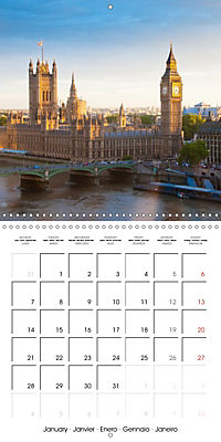 London - Rivers, Lakes and Canals (Wall Calendar 2019 300 × 300 mm Square) - Produktdetailbild 1
