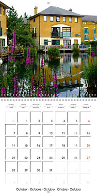 London - Rivers, Lakes and Canals (Wall Calendar 2019 300 × 300 mm Square) - Produktdetailbild 10