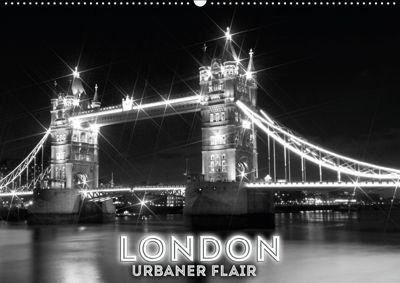 LONDON Urbaner Flair (Wandkalender 2019 DIN A2 quer), Melanie Viola