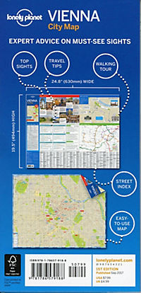 Lonely Planet City Map Vienna - Produktdetailbild 1