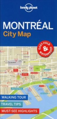 Lonely Planet Montreal City Map, Planet Lonely