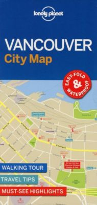 Lonely Planet Vancouver City Map, Planet Lonely