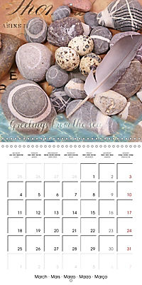 Longing for the sea (Wall Calendar 2019 300 × 300 mm Square) - Produktdetailbild 3
